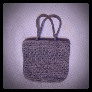 Small Gray Crochet Old Navy bag.